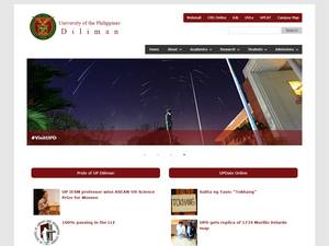 University of the Philippines Diliman's Website Screenshot